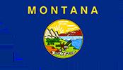 Montana Flag Map